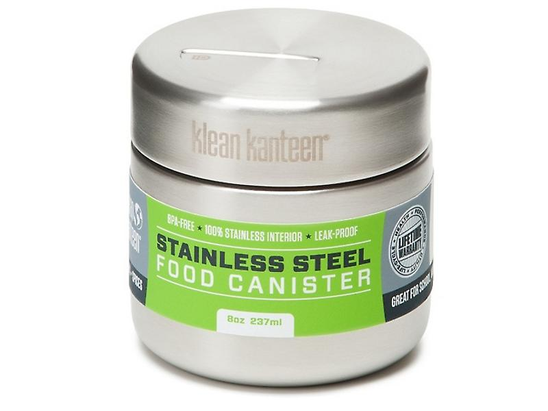 Klean Kanteen 237ml Single Wall Stainless Steel Food Canister (Brushed Stainless)