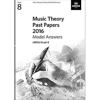 Music Theory Past Papers - 2016 - 9781848498204 Book