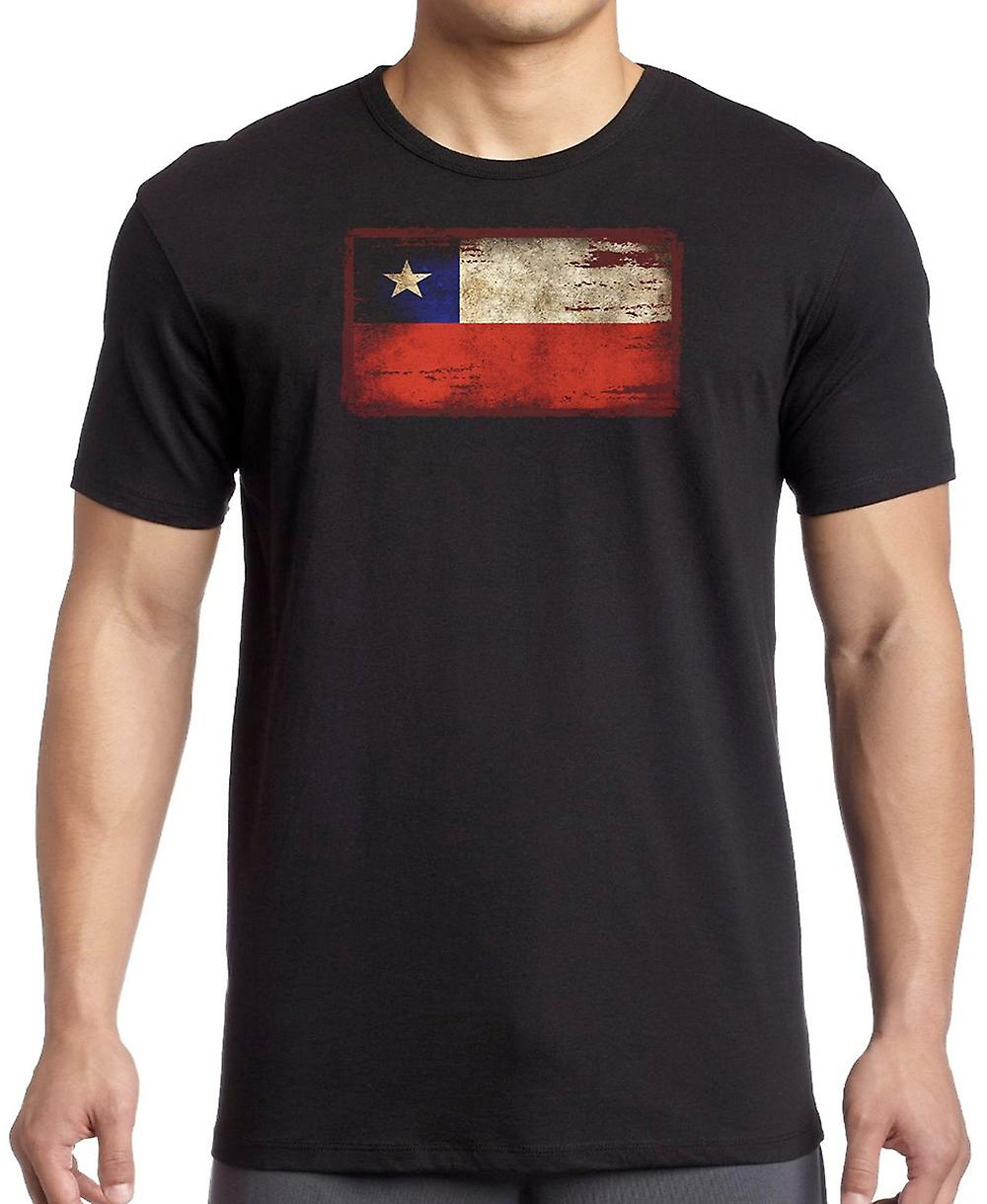 Chile Chilean Grunge Flag T Shirt