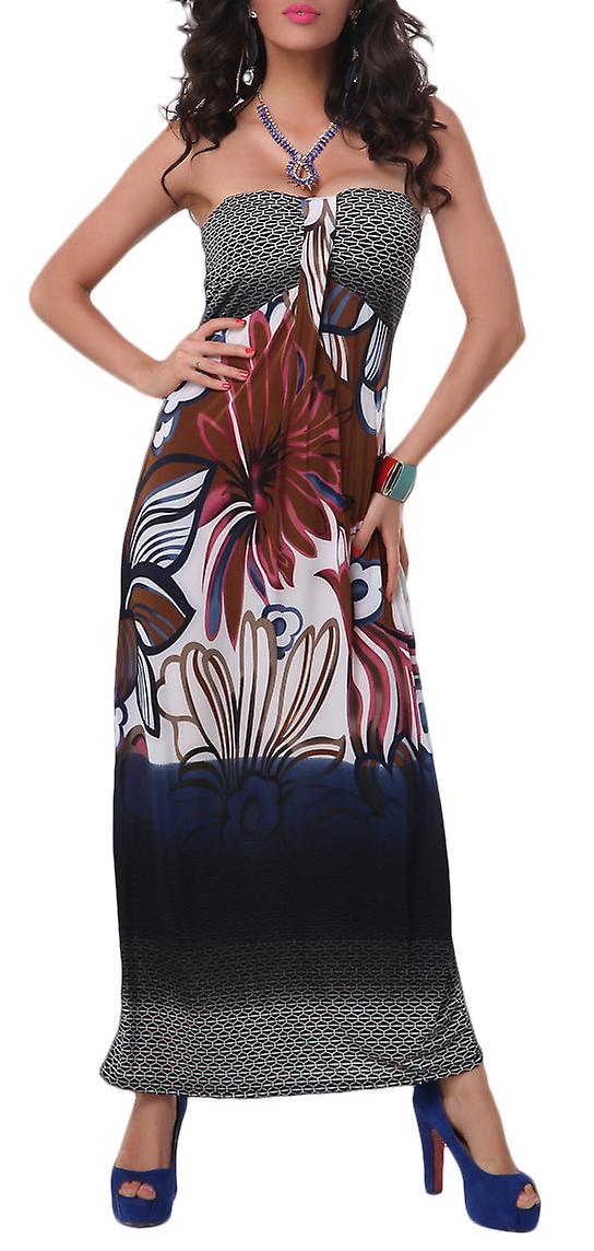 Waooh - Long Flower Pattern Dress Siol