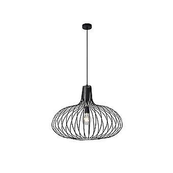 Vintage Manuela lucide rond luminaire suspendu noir métal
