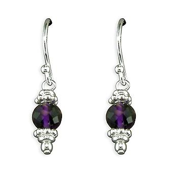 TOC Sterling Zilver Amethyst Crystal parel Drop Oorbellen