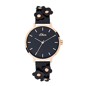 s.Oliver women's watch wristwatch leather SO-3700-LQ