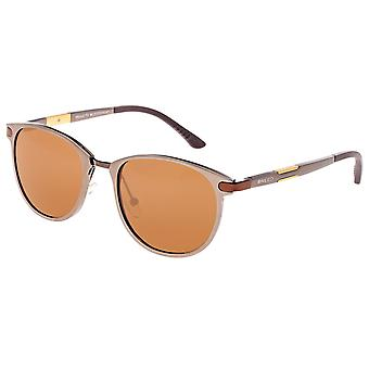 Breed Orion Aluminium Polarized Sunglasses - Brown/Brown