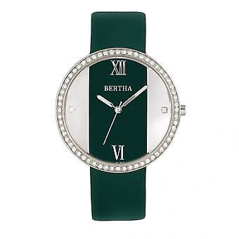 Bertha Ingrid Leather-Band Watch - Teal