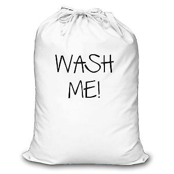 White Laundry Bag Wash Me