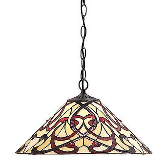 Ruban medio estilo Tiffany una luz de techo colgante - interiores 1900 64320