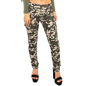 Low Rise Slim Camouflage Kampf Hose