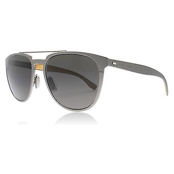 Hugo Boss 0882/S 0S5 Dark Ruthenium 0882/S Oval Sunglasses Lens Category 3 Size 57mm