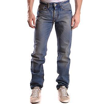 Bikkembergs Blue Cotton Jeans