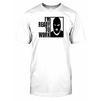 Im Ready To Work - Bank Robber - Funny Kids T Shirt