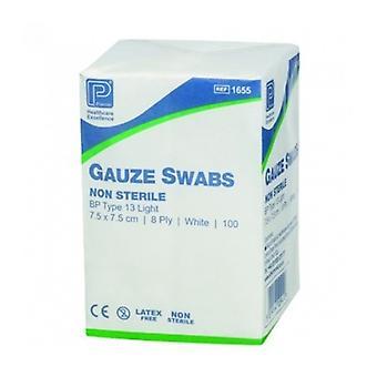 Gauze Swab Ns Bp 7.5X7.5Cm 8-Ply 100