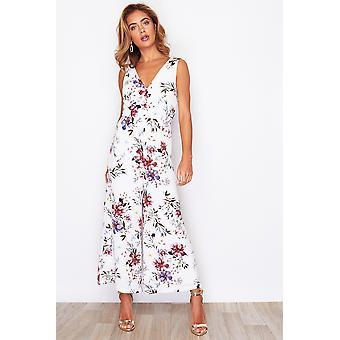 English Garden Print Culotte Jumpsuit