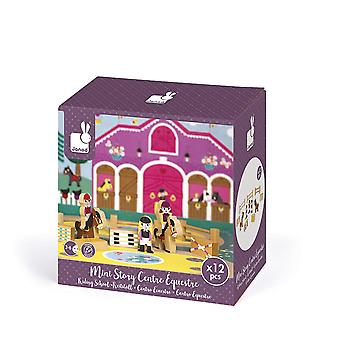 Janod J08517 Mini Story Wooden Game, Riding School