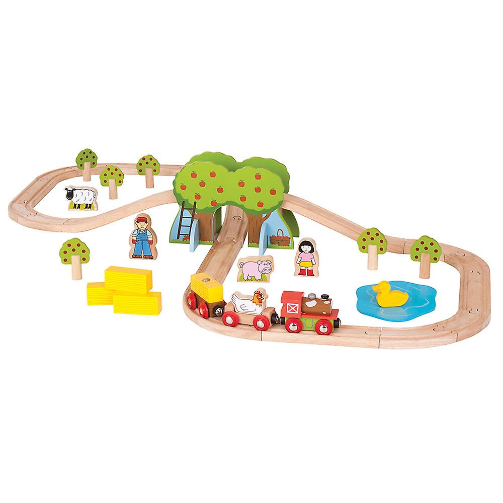 Bigjigs Rail ferme en bois Train Track Play Set accessoires ferroviaires animale