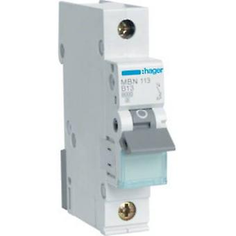 Hager MBN113 Circuit breaker 1-pin 13 A
