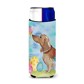 Red Tan Dachshund Easter Michelob Ultra Hugger for slim cans