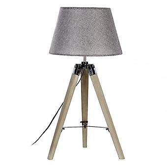 Premier Home Harper tafel lamp, stof + PVC, hout, grijs