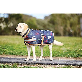 Weatherbeeta Parka 1200d 220g hund tæppe/hund frakke-Stag print
