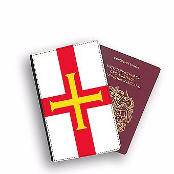 GUERNSEY Flag Passport Holder Style Case Cover Protective Wallet Flags design