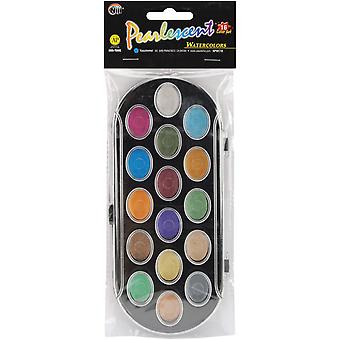 Pearlescent Watercolor Paint Cakes 16 Pkg Assorted Colors Npwc16