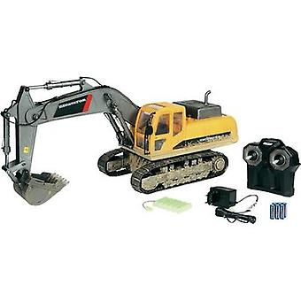 Carson Modellsport Crawler excavator 1:12 RC Beginners Scale Models Heavy-duty vehicle incl. batteries and charger