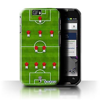 STUFF4 Case/Cover for Motorola IronRock/XT626/4-2-3-1/Red/Football Formation