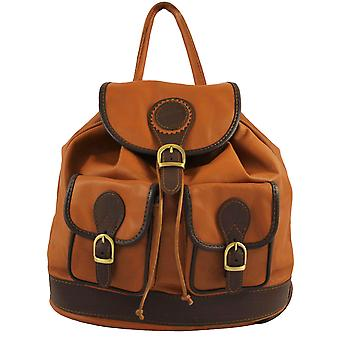 CTM Mmf genuine leather Backpack made in italy