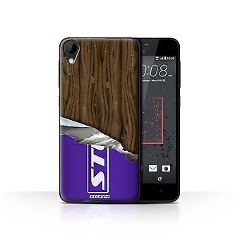 STUFF4 Tilfelle/Cover for HTC Desire 825/pakket Flake/sjokolade