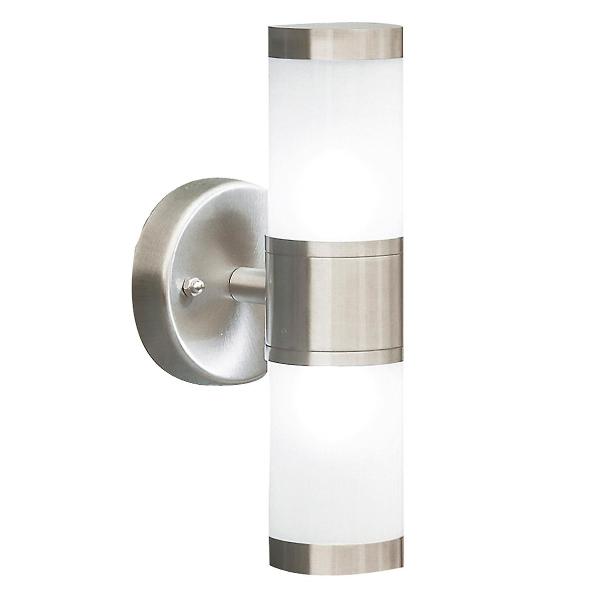 Dar KAM0944 Kamus Outdoor Double Wall Light With Frosted Glass