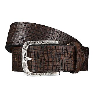 ALBERTO desert belts men's belts leather belt Brown 3942