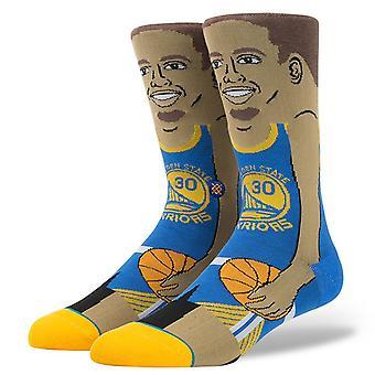 Postura da NBA lendas meias Stephen Curry - azul