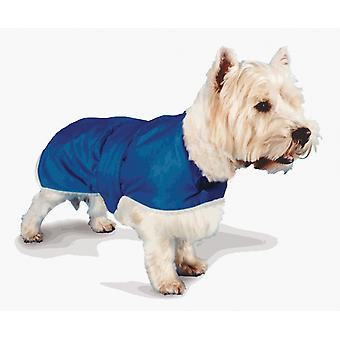 Waterproof Fur Lined Coat Blue 76cm