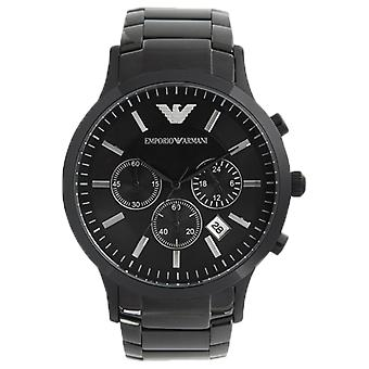 Emporio Armani AR2453 Black Ion-Plated Stainless Steel Chronograph Watch