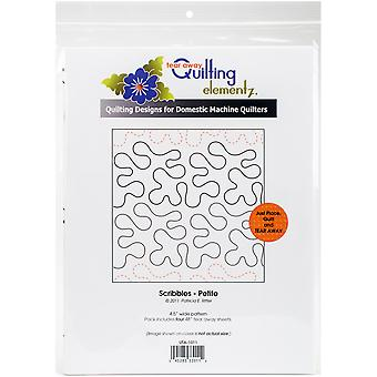 Quilting Creations Printed Tear Away Quilting Paper 4/Pkg-Scribbles-Petite 4.5
