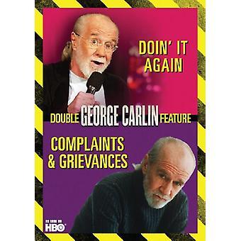 George Carlin - Complaints & Grievances/Doin It Again [DVD] USA import