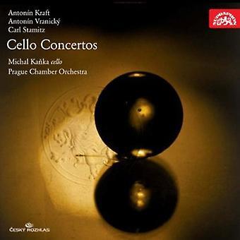 Kanka, Michal Prags Kammerorkester - Anton N Kraft, Anton N Vranick, Carl Stamitz: Cello koncerter [CD] USA importerer