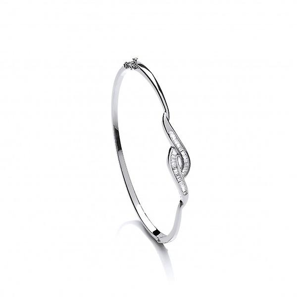Cavendish French Clever Twist Fine CZ and Silver Bangle