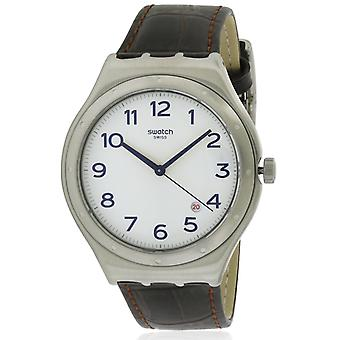 Swatch FOUR THIRTY Leather Mens Watch YWS416