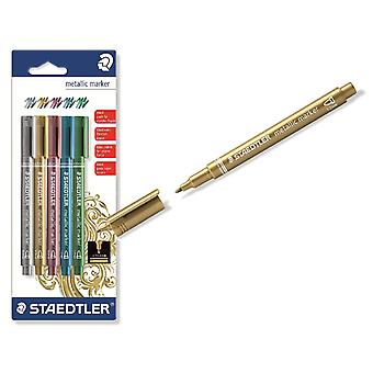 Staedtler Blister 5 Rotulador Metalizado  (Toys , School Zone , Drawing And Color)