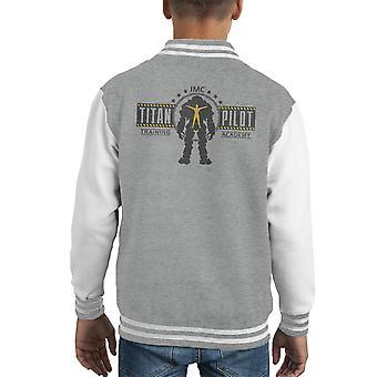 Titan Pilot Training Academy Titanfall Kid's Varsity Jacket