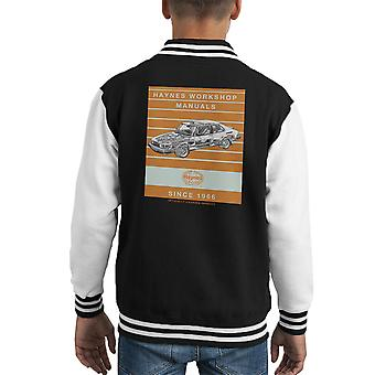 Haynes Workshop Manual 0765 Saab 900 Turbo Stripe Kid's Varsity Jacket