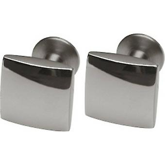 Ti2 Titanium Polished Square Cufflinks - Grey