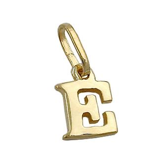 Delicate little letter pendant gold 375 followers, letter E, 9 KT GOLD