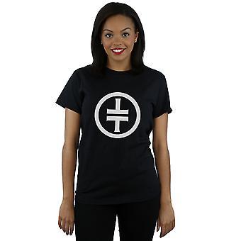 Take That Women's White Logo Boyfriend Fit T-Shirt