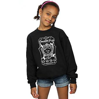 Harry Potter Girls Chocolate Frogs Mono Label Sweatshirt