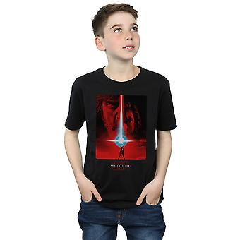 Star Wars Boys The Last Jedi Red Poster T-Shirt