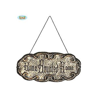 Halloween en horror Signe de porte d'Halloween Haunted Home 45x20cm