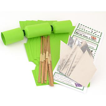 8 MINI Lime Green Make & Fill Your Own Cracker Making Craft Kit
