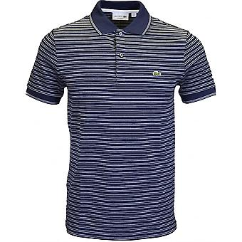 Lacoste Ph9099 Regular Fit Navy Stripe Polo